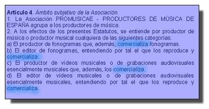 Productor, según Promusicae