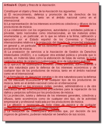 Fines de Promusicae