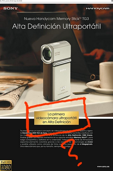 anuncio de Sony