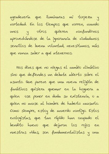 Carta a Jose Maria Aznar pagina 2
