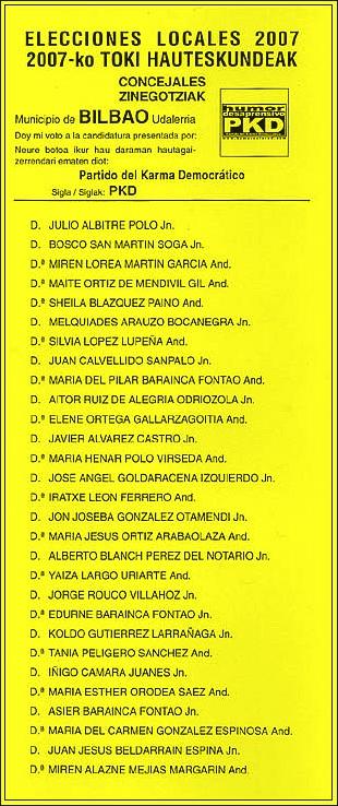 lista electoral