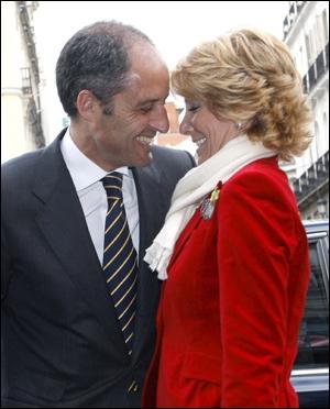 Francisco Camps y Esperanza Aguirre