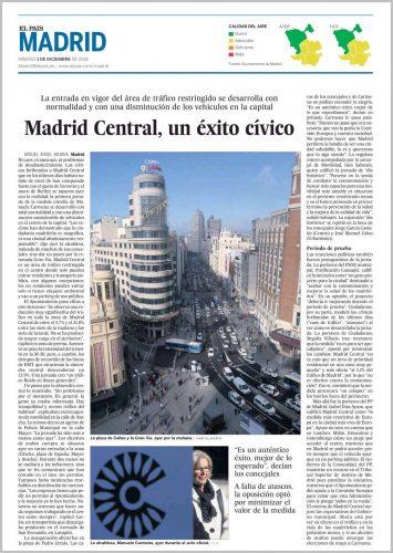 Madrid Central Vista de la Gran Vía