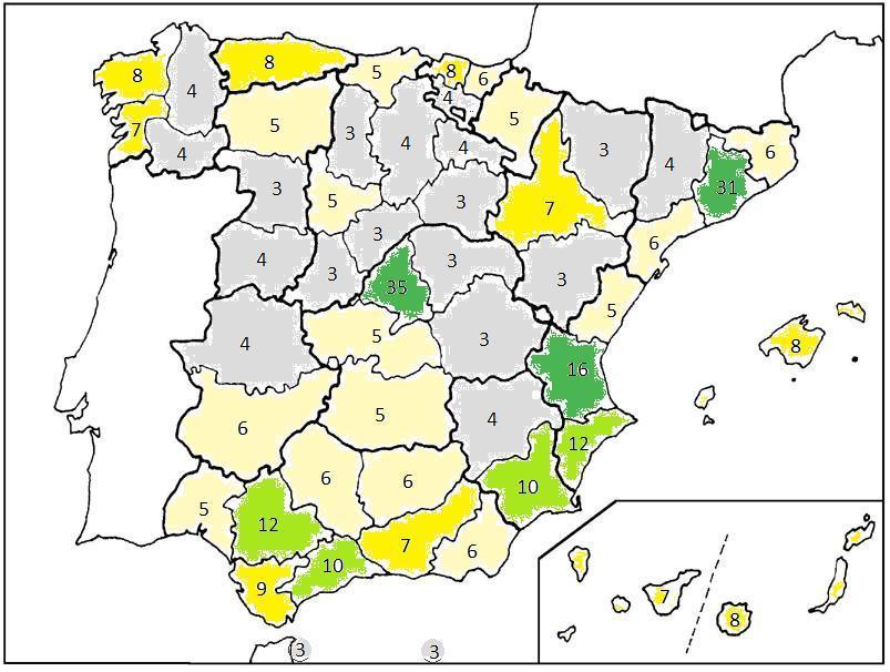 Diputados por provincia/circunscripción