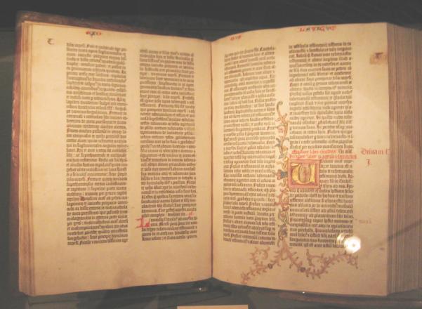 Biblia impresa por Gutenberg en el siglo XV