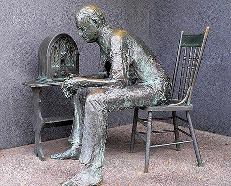 Escultura en el memorial E.D.Roosvelt